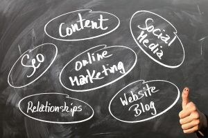 marketing, content, blog, social media for agents