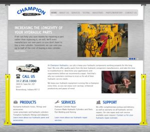 Champion Hydraulics Inc. Website