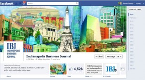 IBJ Facebook Fan page: Mural of Indianapolis as Branding
